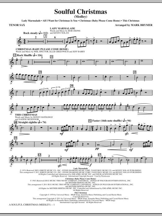 A Soulful Christmas - Tenor Sax (Choir Instrumental Pak)