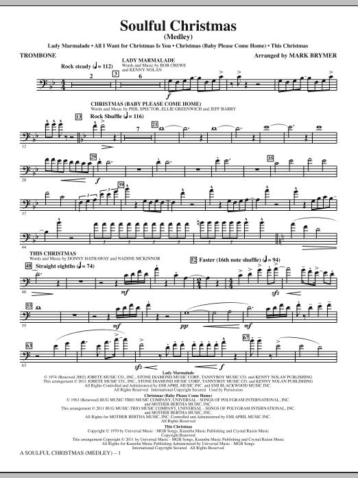 A Soulful Christmas - Trombone (Choir Instrumental Pak)