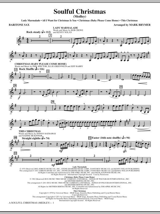 A Soulful Christmas - Baritone Sax (Choir Instrumental Pak)