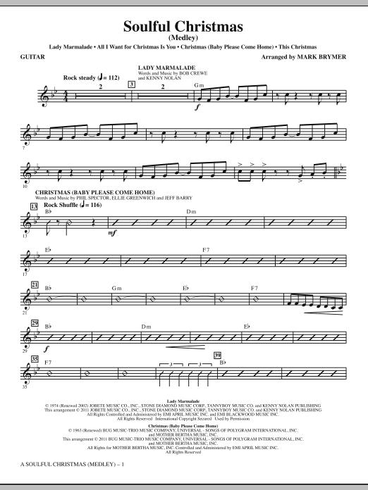 A Soulful Christmas - Guitar (Choir Instrumental Pak)