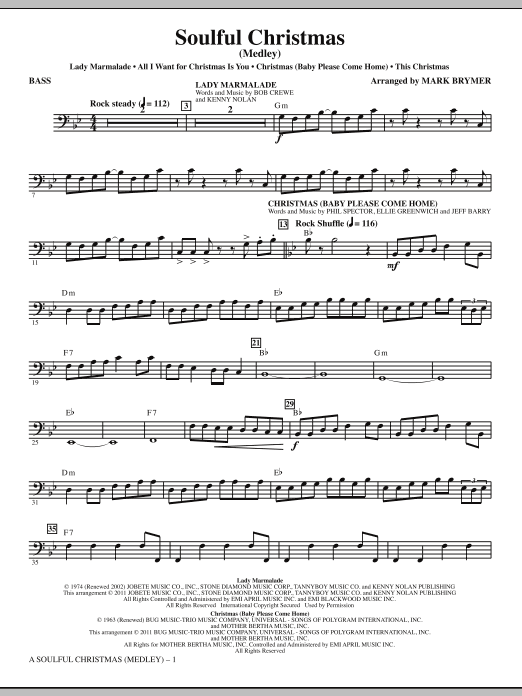 A Soulful Christmas - Bass (Choir Instrumental Pak)