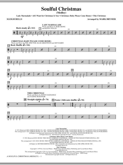 A Soulful Christmas - Sleigh Bells (Choir Instrumental Pak)
