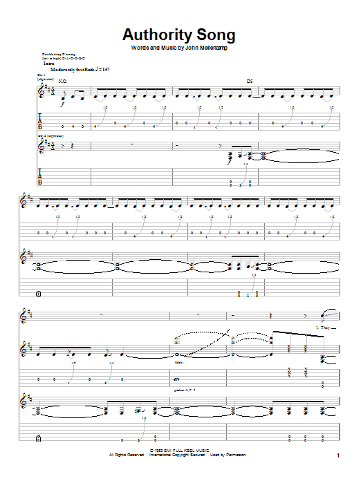 Authority Song Sheet Music