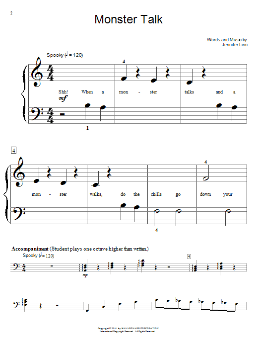 Monster Talk Sheet Music