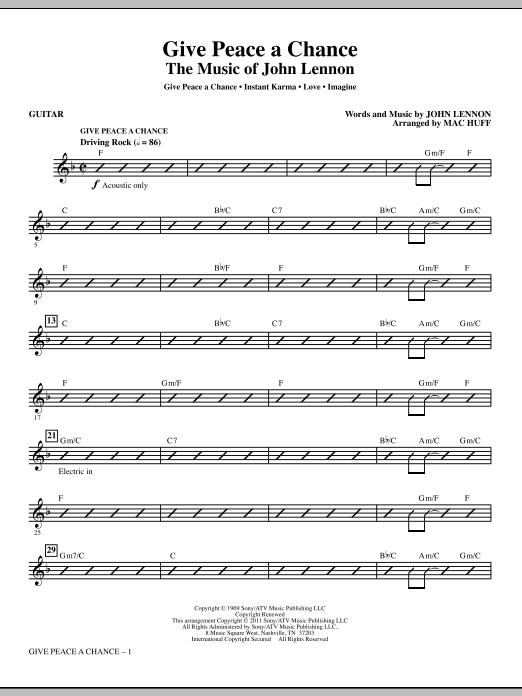 Give Peace A Chance: The Music Of John Lennon - Guitar Sheet Music