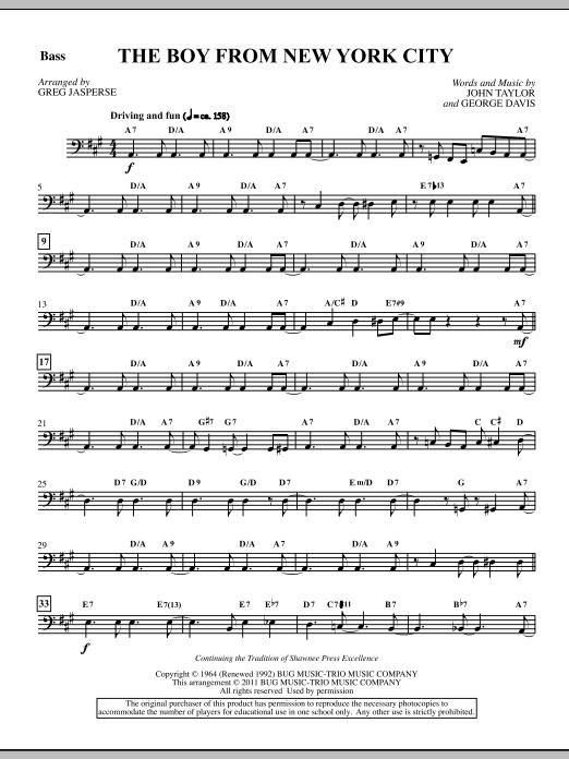 The Boy From New York City - Bass Sheet Music