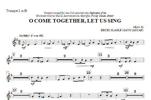 O Come Together, Let Us Sing - Trumpet 2 in Bb (Choir Instrumental Pak)