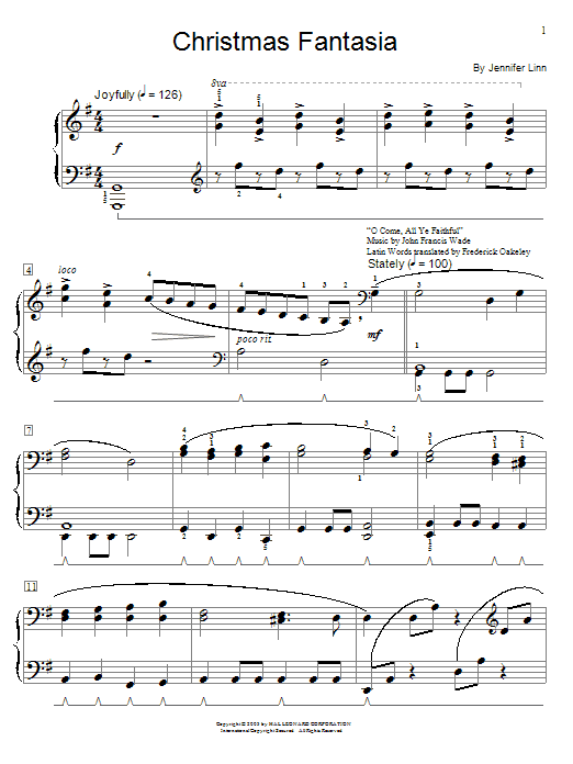Christmas Fantasia Sheet Music
