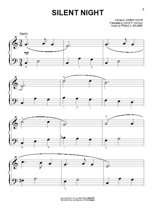 Partition piano Silent Night de Joseph Mohr - Autre