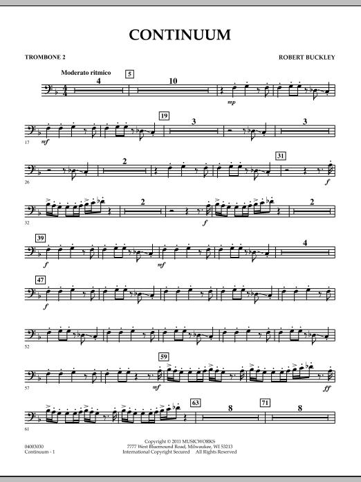 Continuum - Trombone 2 (Concert Band)