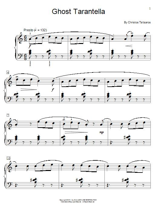 Ghost Tarantella (Educational Piano)