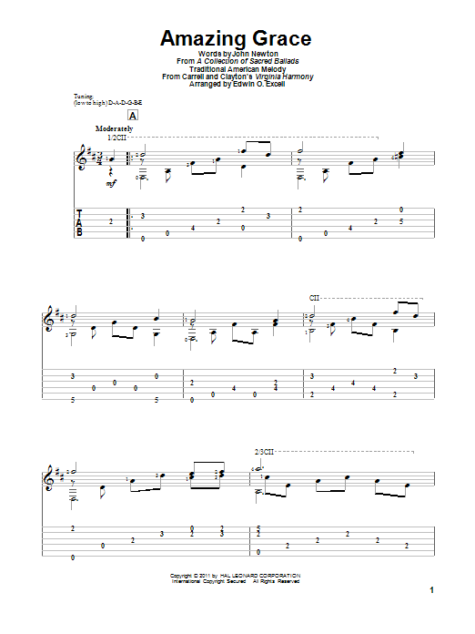 Amazing Grace (Guitar Tab)