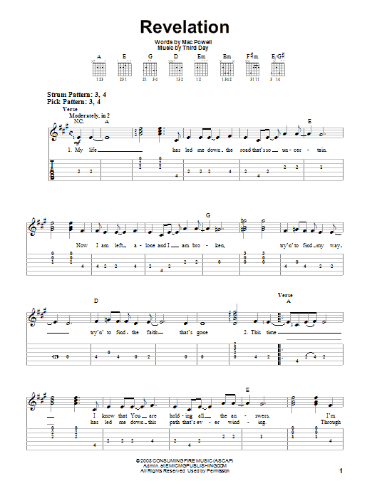 Revelation (Easy Guitar Tab)