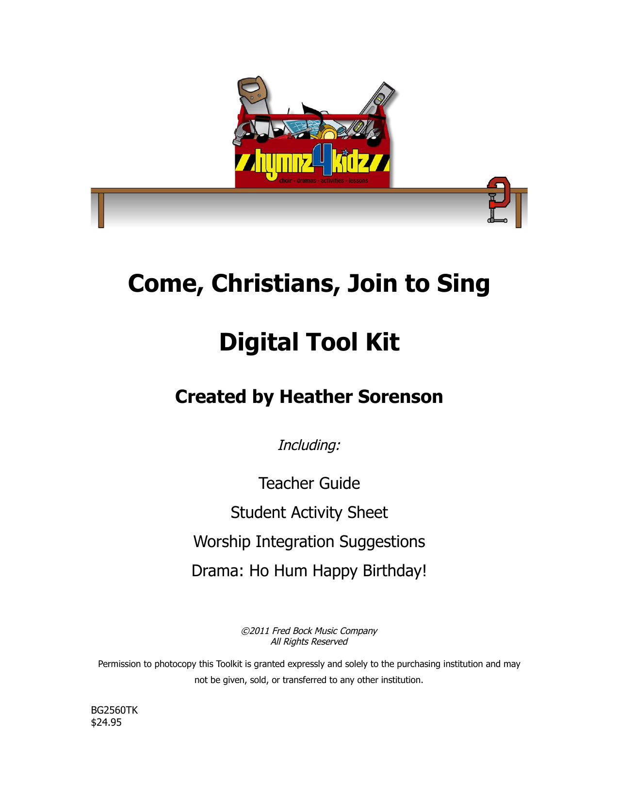 Come, Christians, Join To Sing (Choir Tool Kit)