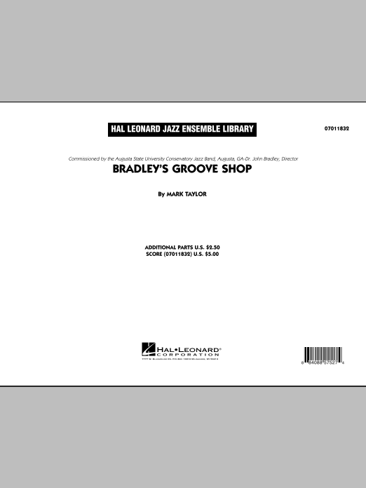 Bradley's Groove Shop (COMPLETE) sheet music for jazz band by Mark Taylor. Score Image Preview.