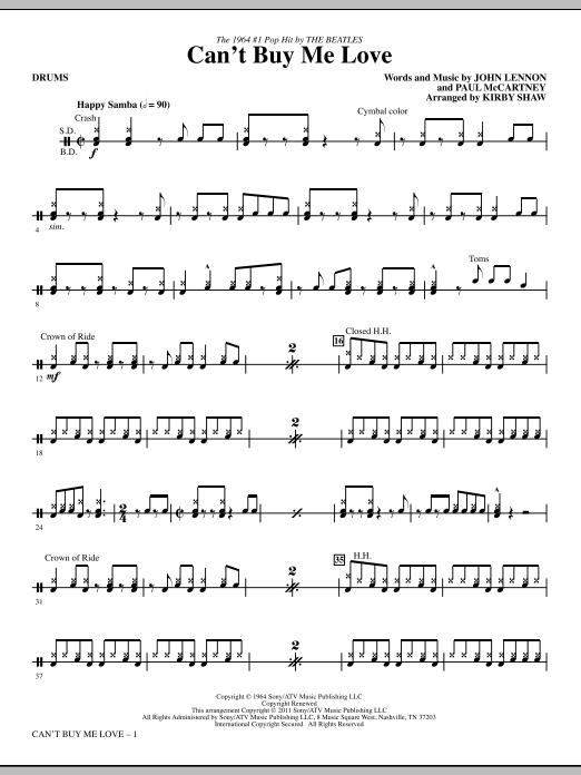 Can't Buy Me Love - Drums (Choir Instrumental Pak)
