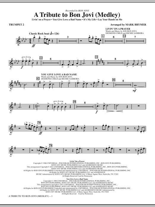 A Tribute To Bon Jovi (Medley) - Bb Trumpet 2 (Choir Instrumental Pak)
