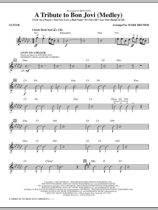 A Tribute To Bon Jovi (Medley) - Guitar (Choir Instrumental Pak)