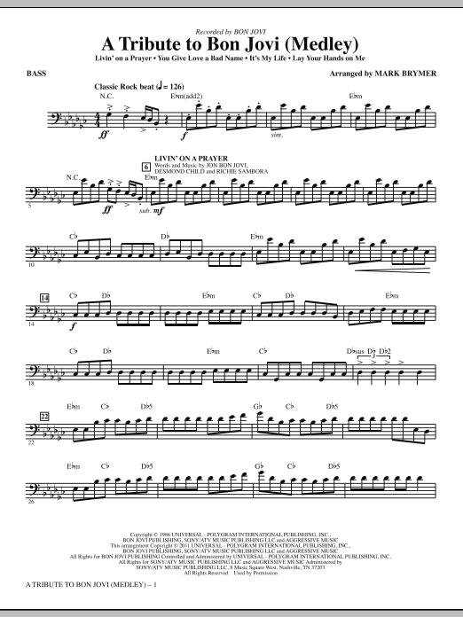 A Tribute To Bon Jovi (Medley) - Bass (Choir Instrumental Pak)
