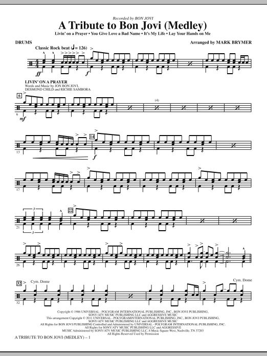 A Tribute To Bon Jovi (Medley) - Drums (Choir Instrumental Pak)