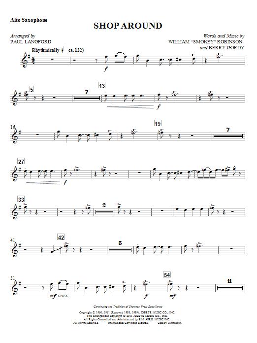 Shop Around - Alto Sax Sheet Music