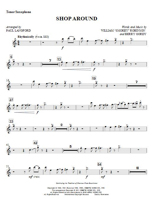 Shop Around - Tenor Sax Sheet Music