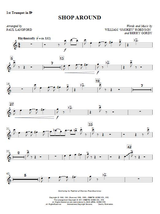 Shop Around - 1st Trumpet in Bb (Choir Instrumental Pak)