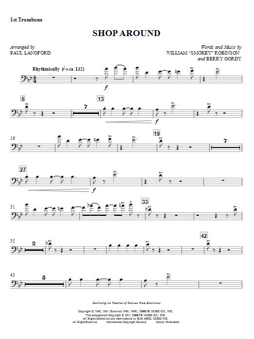 Shop Around - 1st Trombone Sheet Music