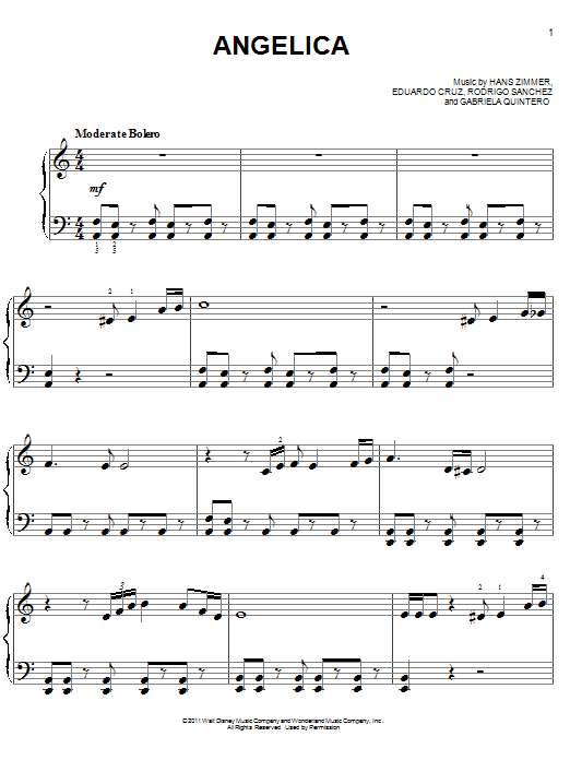 Angelica Sheet Music