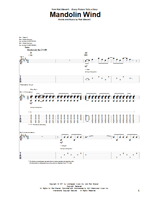 Mandolin Wind (Guitar Tab)
