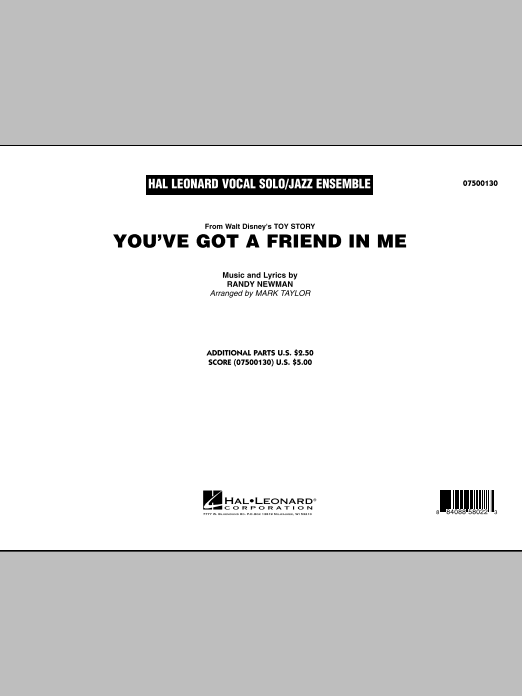 You've Got A Friend In Me (COMPLETE) sheet music for jazz band by Mark Taylor and Randy Newman. Score Image Preview.