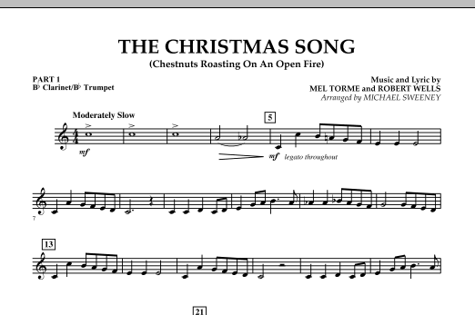 The Christmas Song (Chestnuts Roasting On An Open Fire) - Pt.1: Bb Clarinet/Bb Trumpet (Concert Band)