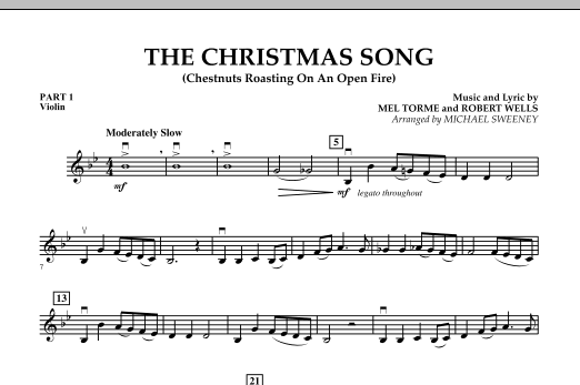 The Christmas Song (Chestnuts Roasting On An Open Fire) - Pt.1: Violin (Concert Band)