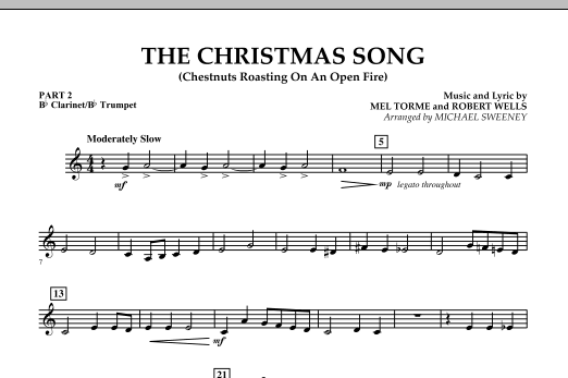 The Christmas Song (Chestnuts Roasting On An Open Fire) - Pt.2: Bb Clarinet/Bb Trumpet (Concert Band)
