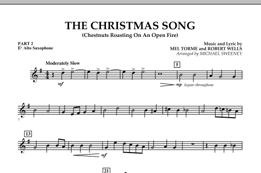 The Christmas Song (Chestnuts Roasting On An Open Fire) - Pt.2: Eb Alto Saxophone (Concert Band)