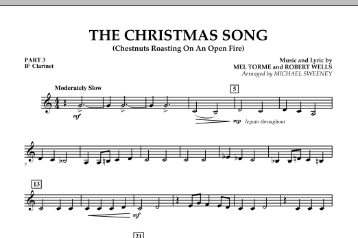 The Christmas Song (Chestnuts Roasting On An Open Fire) - Pt.3: Bb Clarinet (Concert Band)