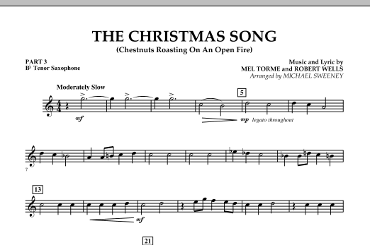 The Christmas Song (Chestnuts Roasting On An Open Fire) - Pt.3: Bb Tenor Saxophone (Concert Band)