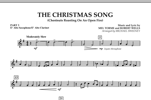 The Christmas Song (Chestnuts Roasting On An Open Fire) - Pt.3: Eb Alto Sax/Alto Clar. (Concert Band)