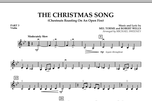 The Christmas Song (Chestnuts Roasting On An Open Fire) - Pt.3: Violin (Concert Band)