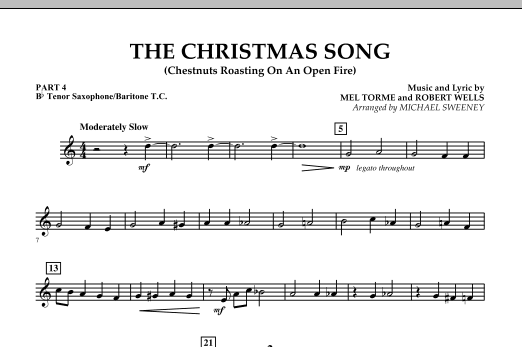 The Christmas Song (Chestnuts Roasting On An Open Fire) - Pt.4: Bb Tenor Sax/Bar. T.C. (Concert Band)