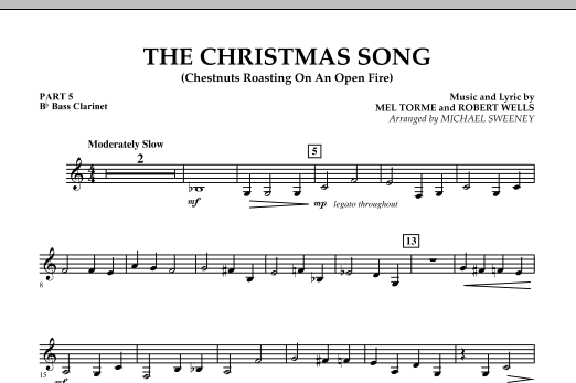 The Christmas Song (Chestnuts Roasting On An Open Fire) - Pt.5: Bb Bass Clarinet (Concert Band)