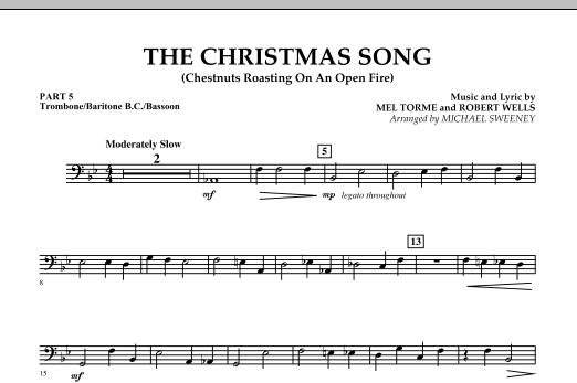 The Christmas Song (Chestnuts Roasting On An Open Fire) - Pt.5: Trombone/Bar. B.C./Bsn. (Concert Band)