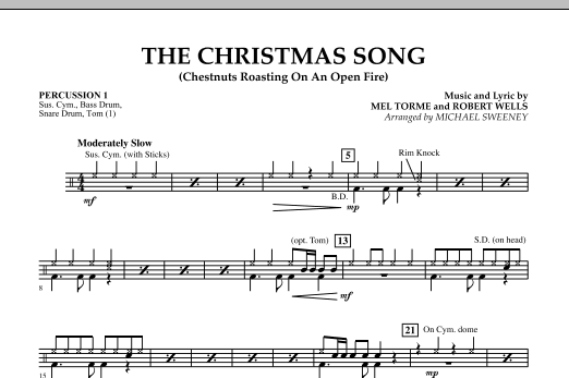 The Christmas Song (Chestnuts Roasting On An Open Fire) - Percussion 1 (Concert Band)