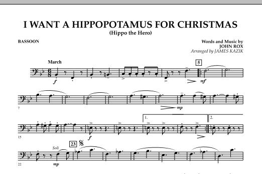 I Want A Hippopotamus For Christmas Sheet Music.I Want A Hippopotamus For Christmas Bassoon Sheet Music