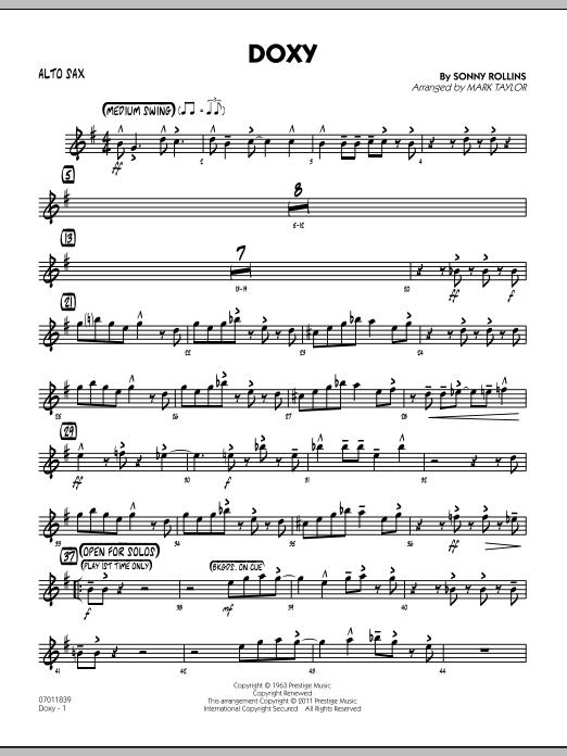 Doxy - Alto Sax (Jazz Ensemble)