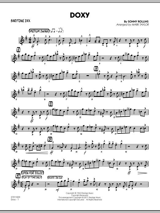 Doxy - Baritone Sax (Jazz Ensemble)