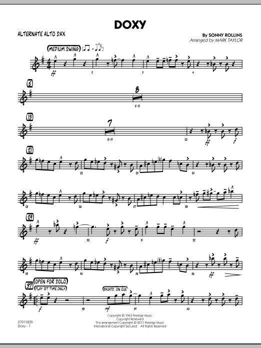 Doxy - Alternate Alto Sax (Jazz Ensemble)
