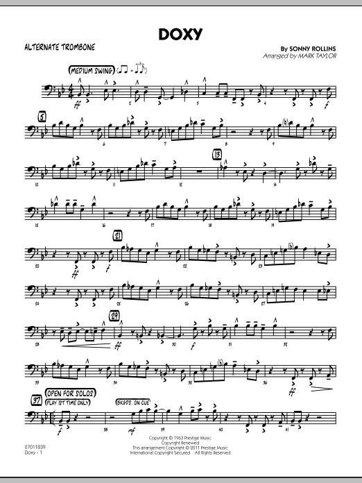 Doxy - Alternate Trombone (Jazz Ensemble)