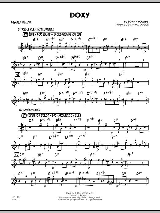 Doxy - Sample Solo (Jazz Ensemble)