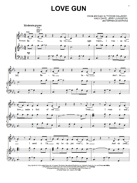 Love Gun Sheet Music
